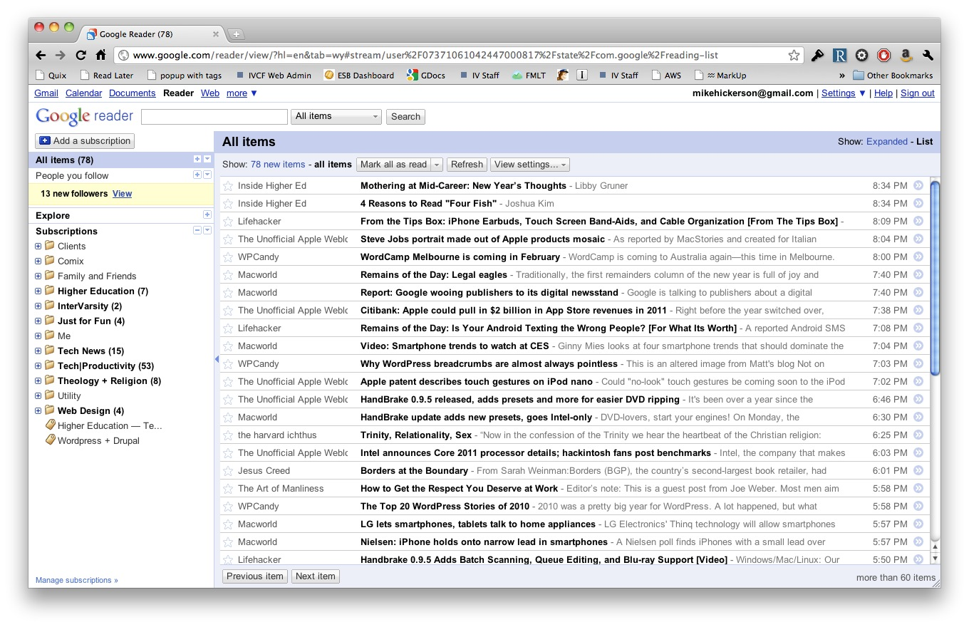 Daily News Delivered to Your Desktop: Intro to RSS & Google Reader